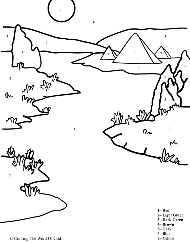 10 Plagues Coloring Pages