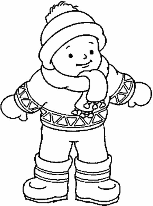 winter boy coloring pages - photo#11