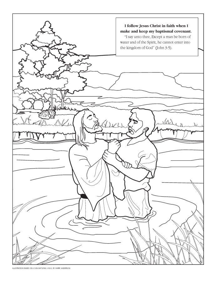 coloring pages john the baptist-#3