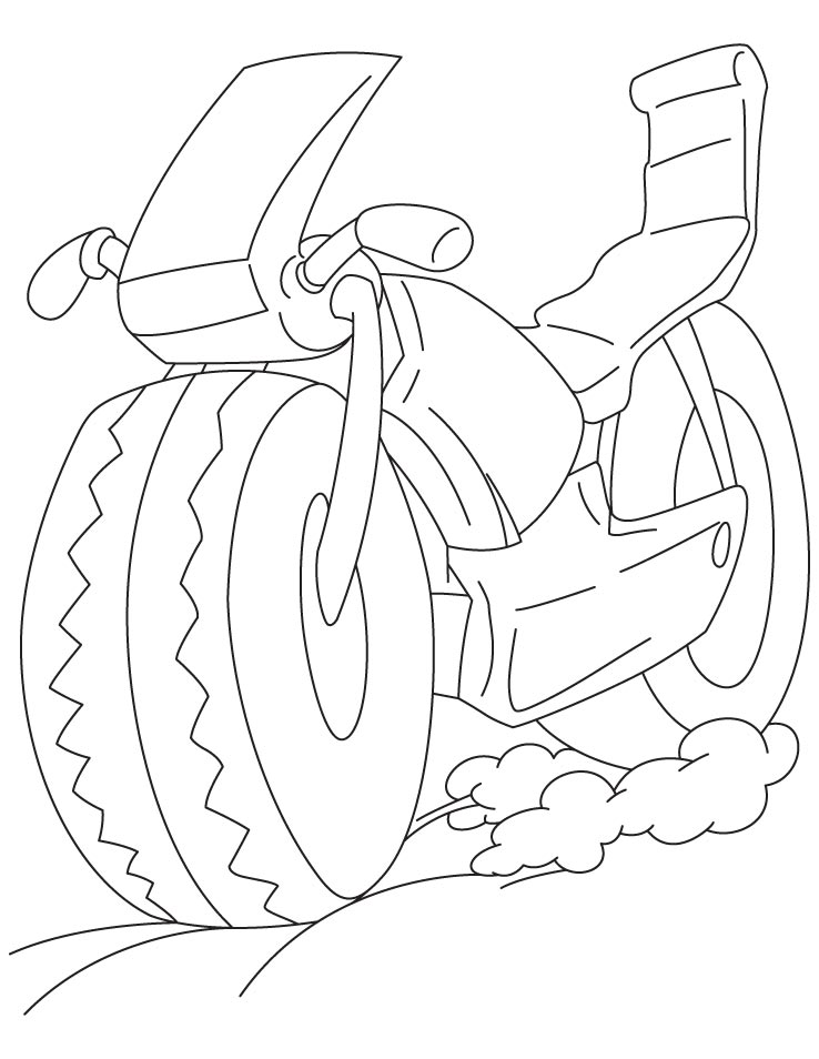 Free Bicycle Safety Coloring Pages