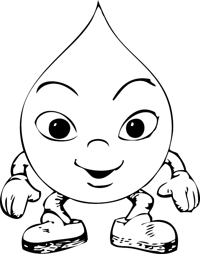 Raindrop Coloring Page ClipArt Best 119009 Rain Drop Coloring Page