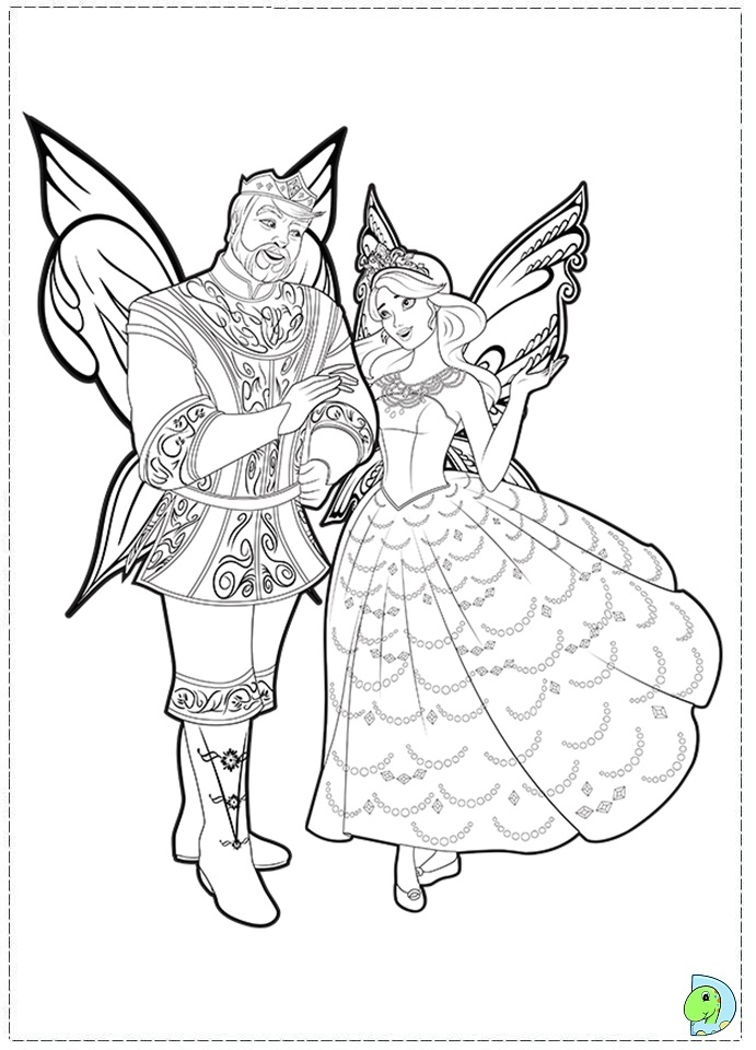 Coloring Pages Barbie Fairy : Barbie fairytopia mermaidia coloring pages az