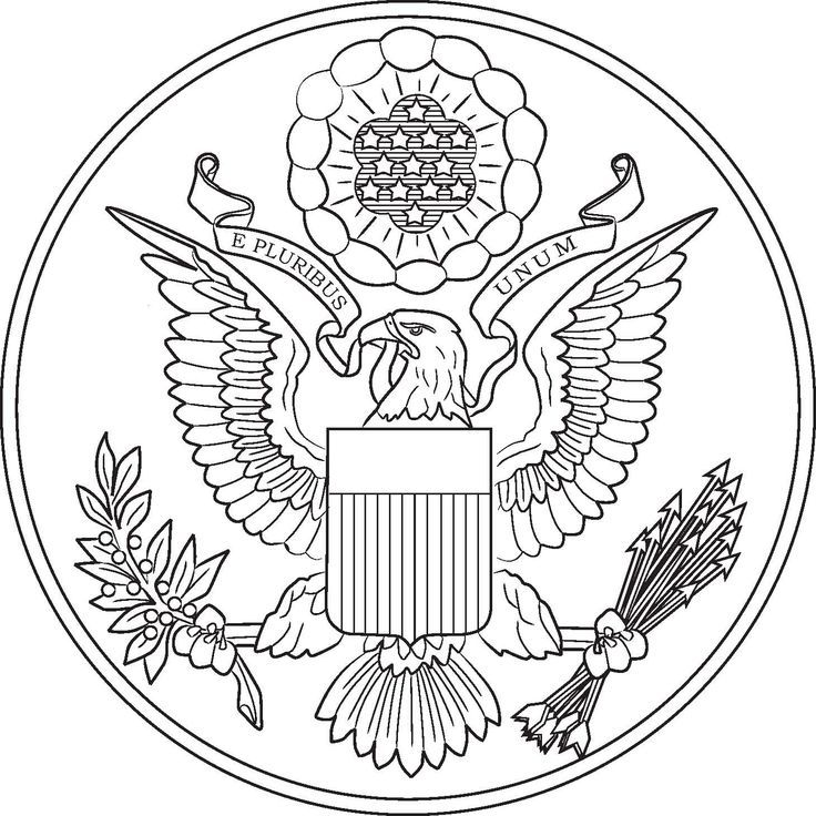 Line Drawing Usa : Pin by alexandra withee on great seal coloring home