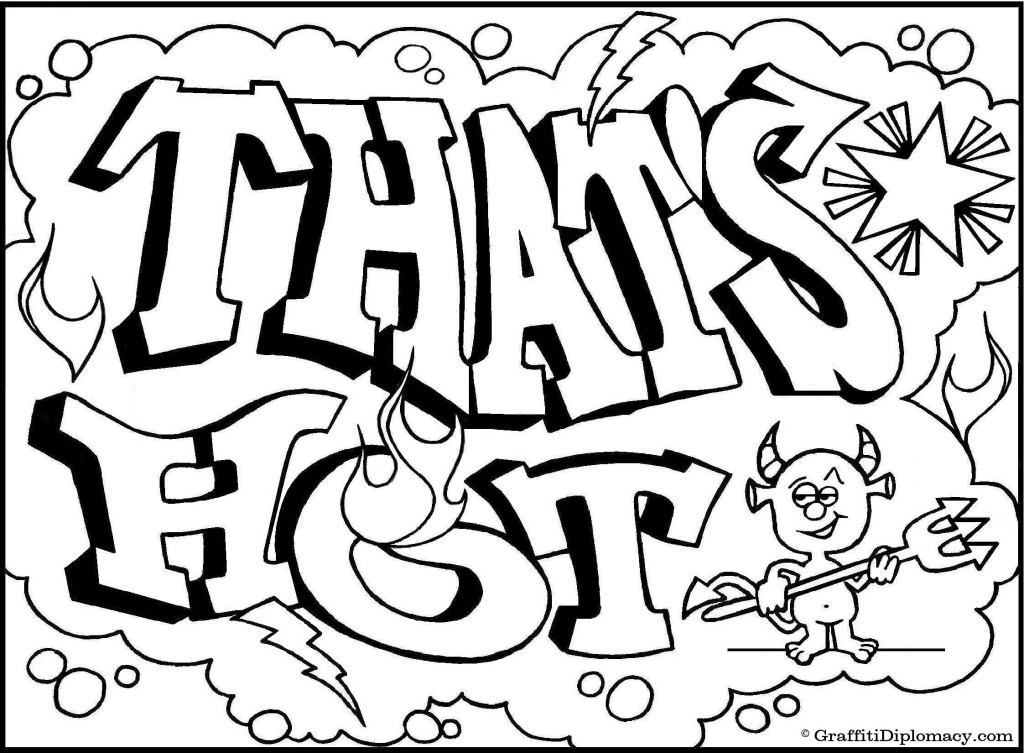 coloring pages of graffiti letters - photo#1