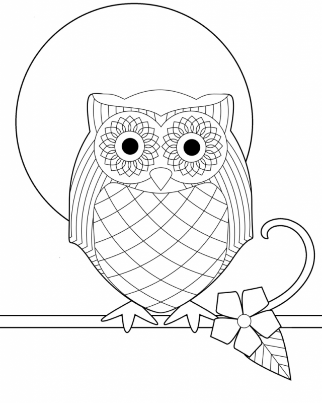 great horned owl coloring pages - photo#22