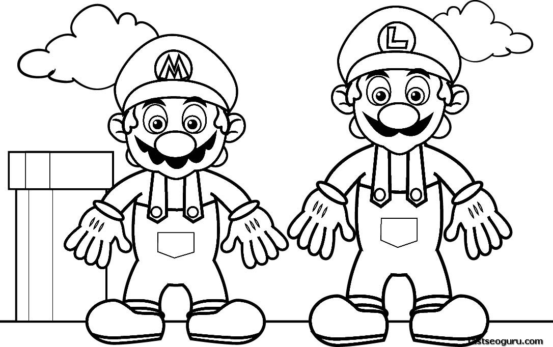 mega mario coloring pages - photo#31