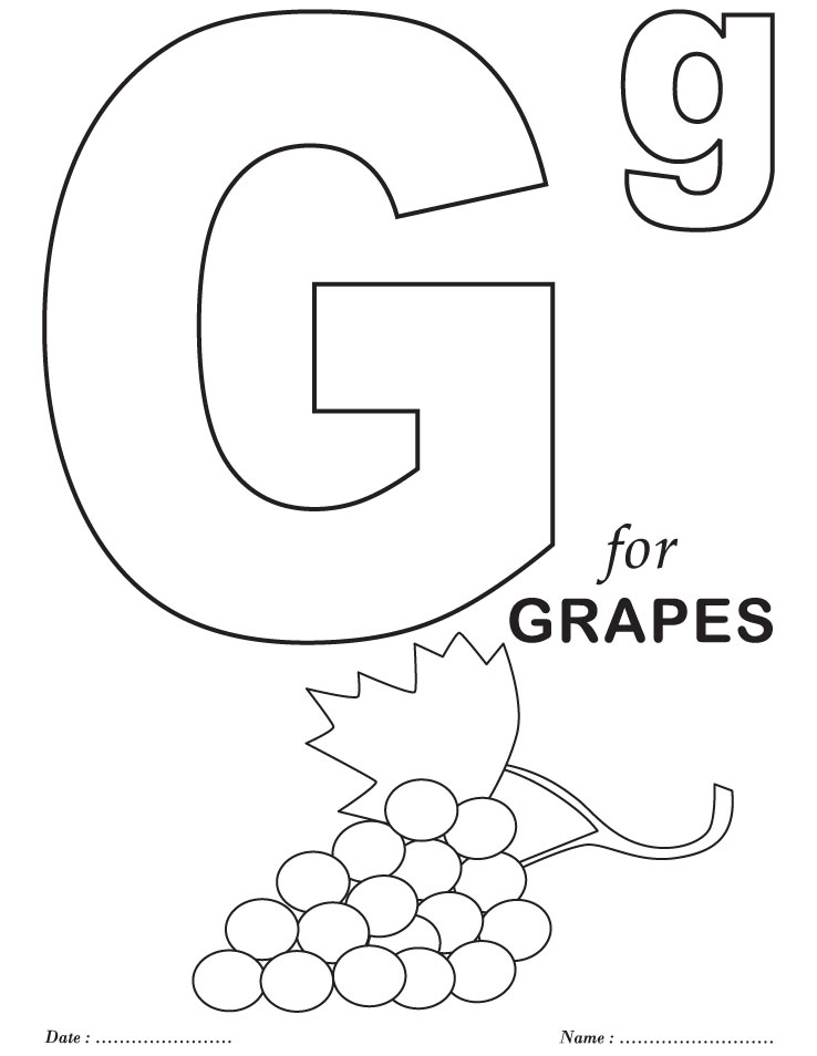 alphabet coloring pages for preschool - photo#5
