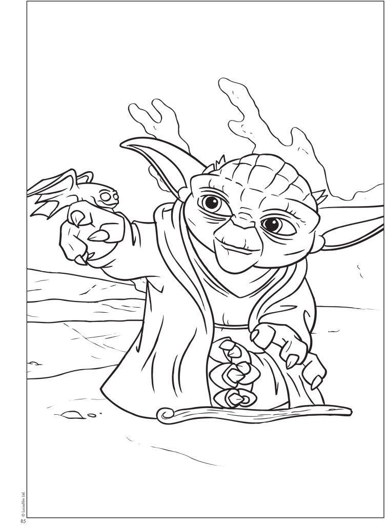 Coloring Pages Yoda : Yoda coloring pages printable az