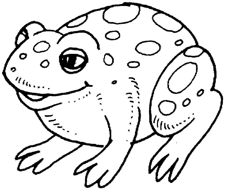 Frog outline az coloring pages for Frog coloring pages free printable