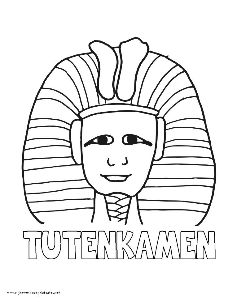 King Tut Coloring Pages Coloring