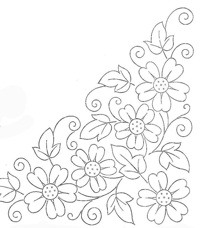 Flower Patterns To Trace AZ Coloring Pages