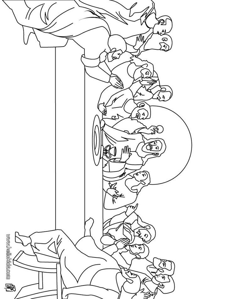 The Last Supper Coloring Page   Christianity For Kids - Coloring Home