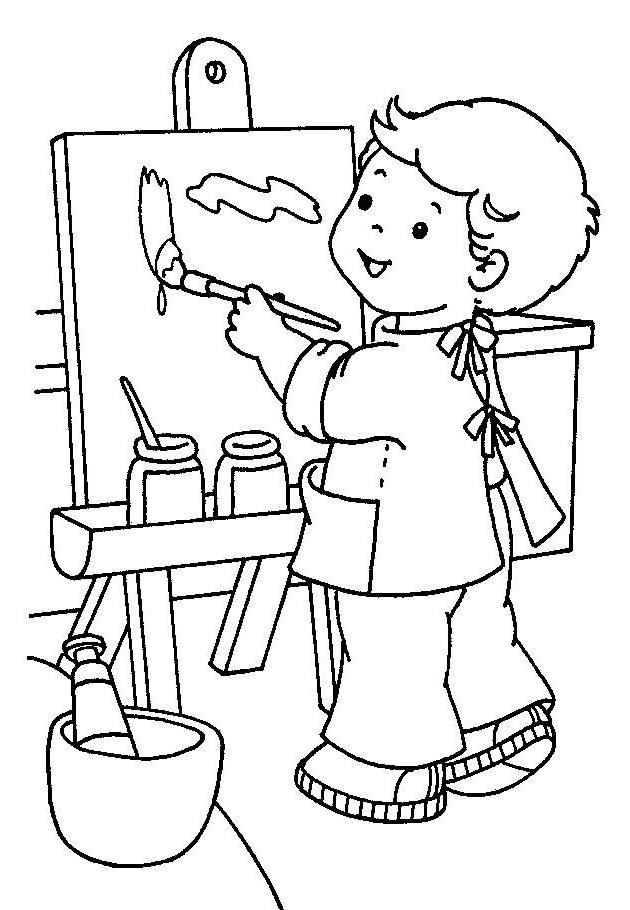 artist coloring pages for preschool - photo #4