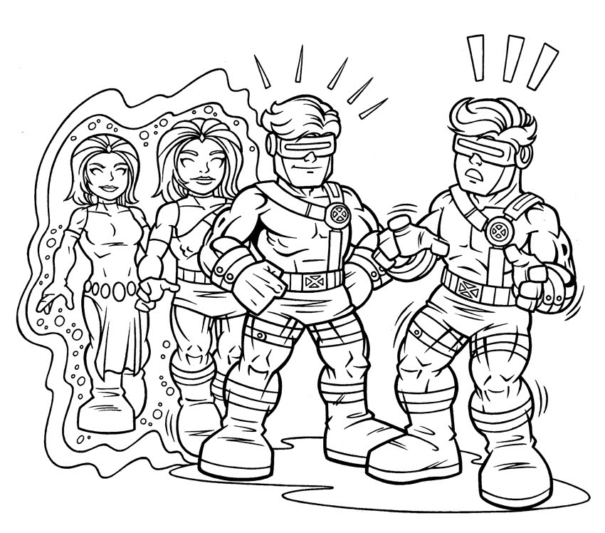 Ausmalbilder Marvel Superhelden: Marvel Superhero Squad Coloring Pages
