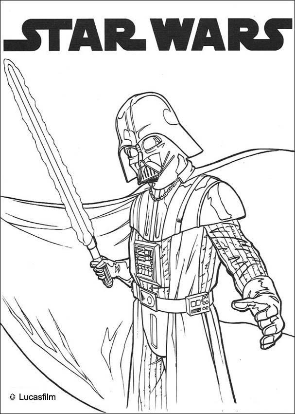Star Wars Coloring Pages Darth Vader