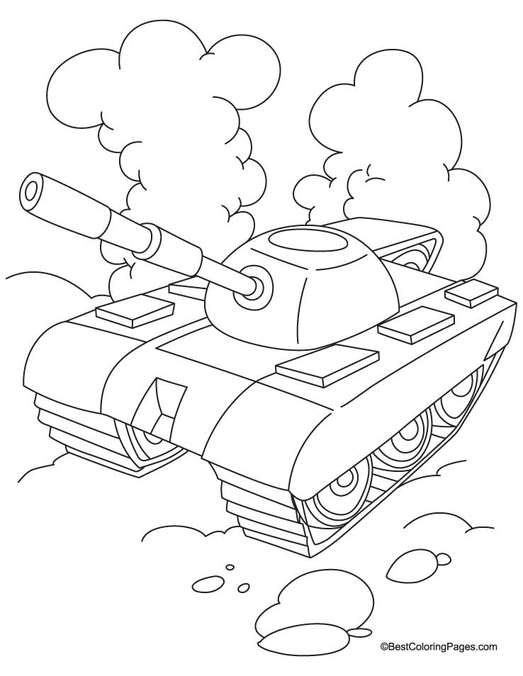 Army Tanks Coloring Pages Coloring