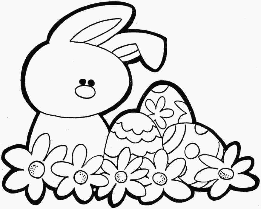 Easter bunny drawings coloring home for Easter bunny coloring pages to print