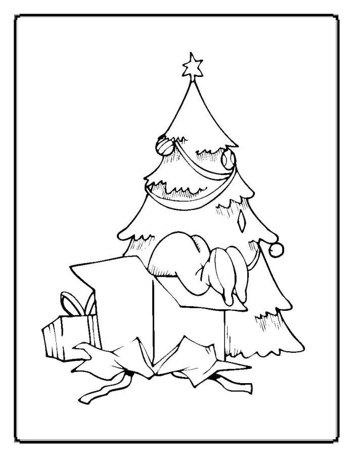 Christmas Tree Ornaments Coloring Pages Coloring Home Tree Ornaments Coloring Pages