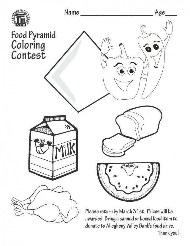 Food Pyramid Coloring Page  Coloring Home