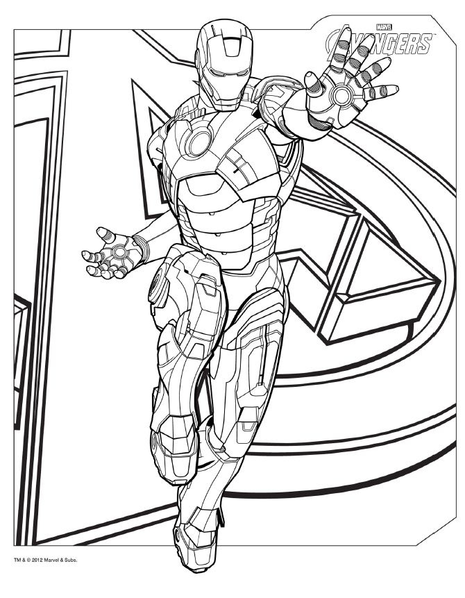 lego avengers coloring pages - photo #40