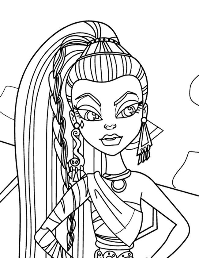 cleo de nile coloring pages - photo#14