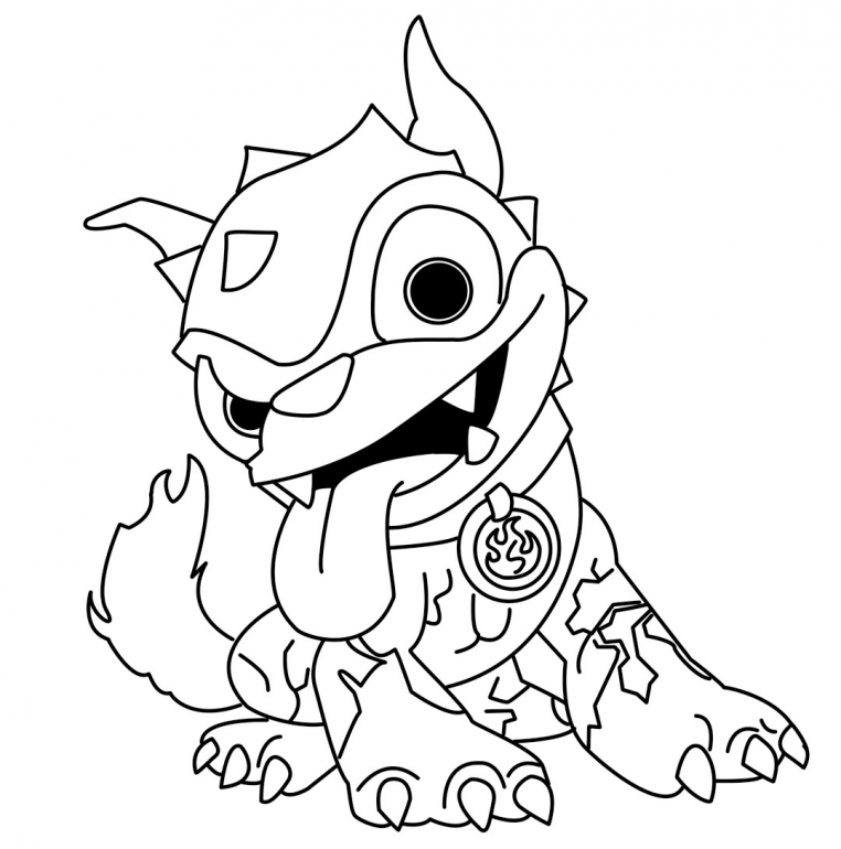 Skylander Giant Coloring Pages