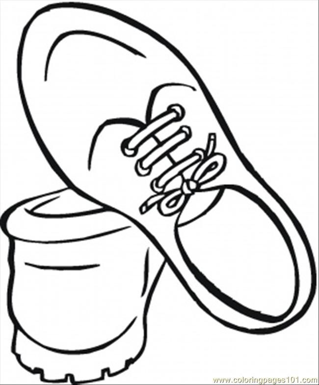 Coloring Pages Shoes For Men (Entertainment > Shoes) - free