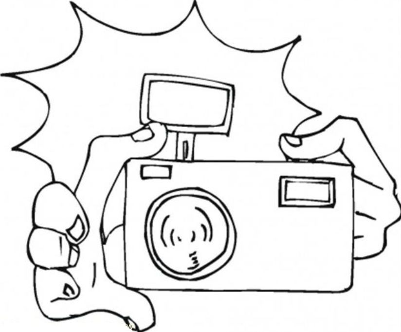 camera coloring pages - photo#18