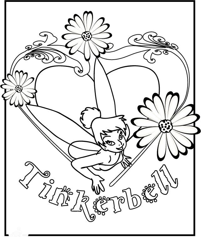 Free coloring pages of at vidia tinkerbell