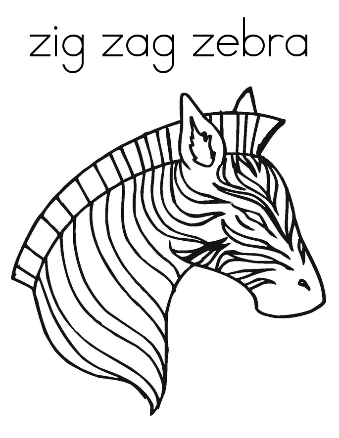 zebra coloring pages free - photo #47