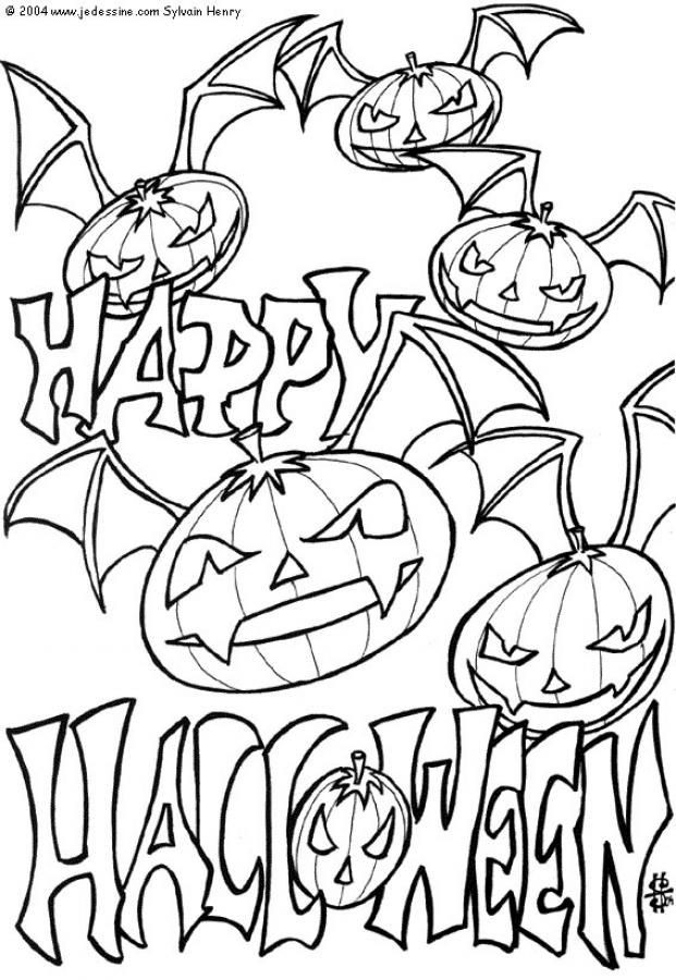 Desenhos De Aboboras Para Colorir Aboboras Morcego Do Halloween