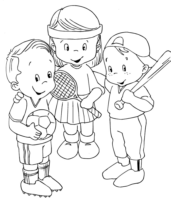 sports coloring pages for kids - photo#11