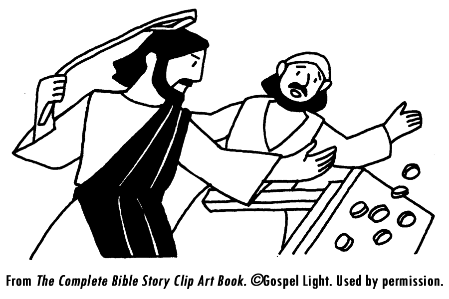 Jesus Clears The Temple Coloring Page Coloring Home