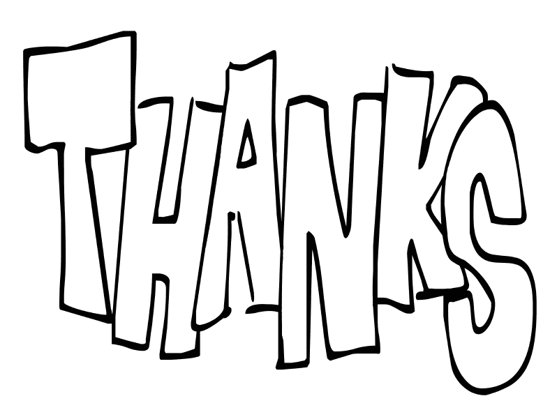 Thank You Coloring Pages For Kids Coloring Home Thank You Colouring Pages