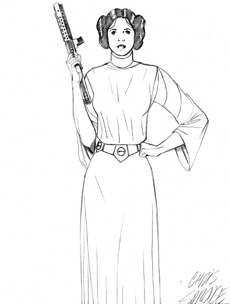 Princess Leia Coloring Pages Coloring Home Princess Leia Coloring Pages Printable