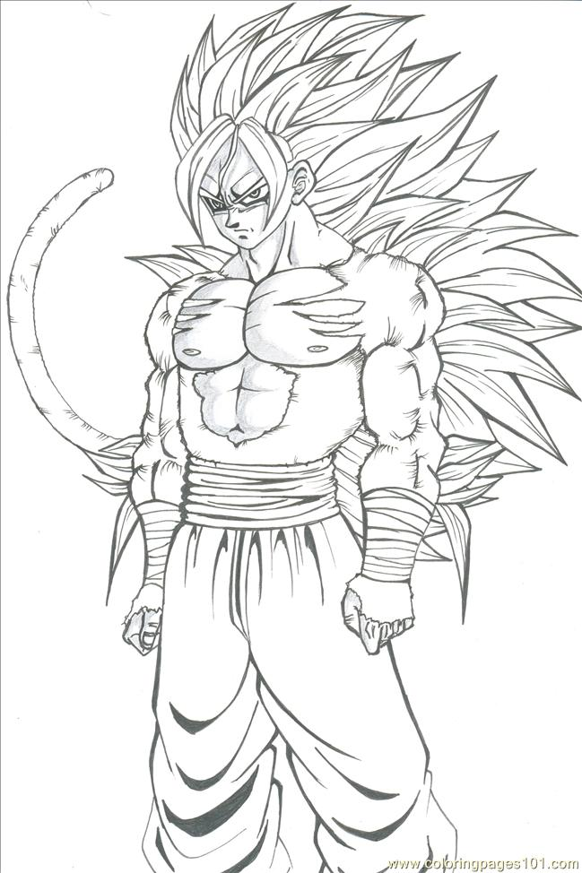 Goku Coloring Pages Printable | Free Coloring Pages