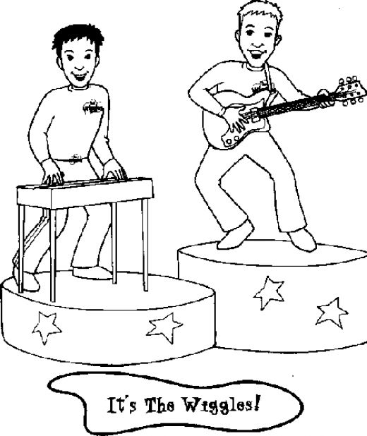 free wiggles coloring pages - photo#22