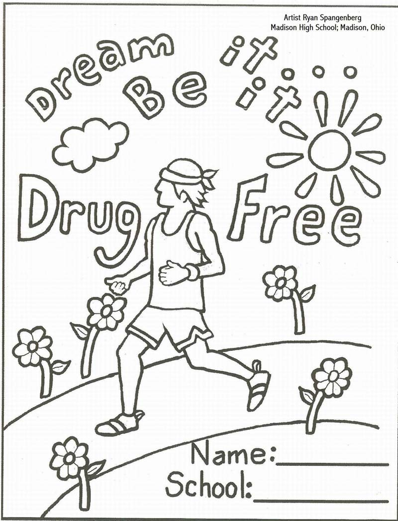 Just Say No To Drugs Coloring Page - Coloring Home