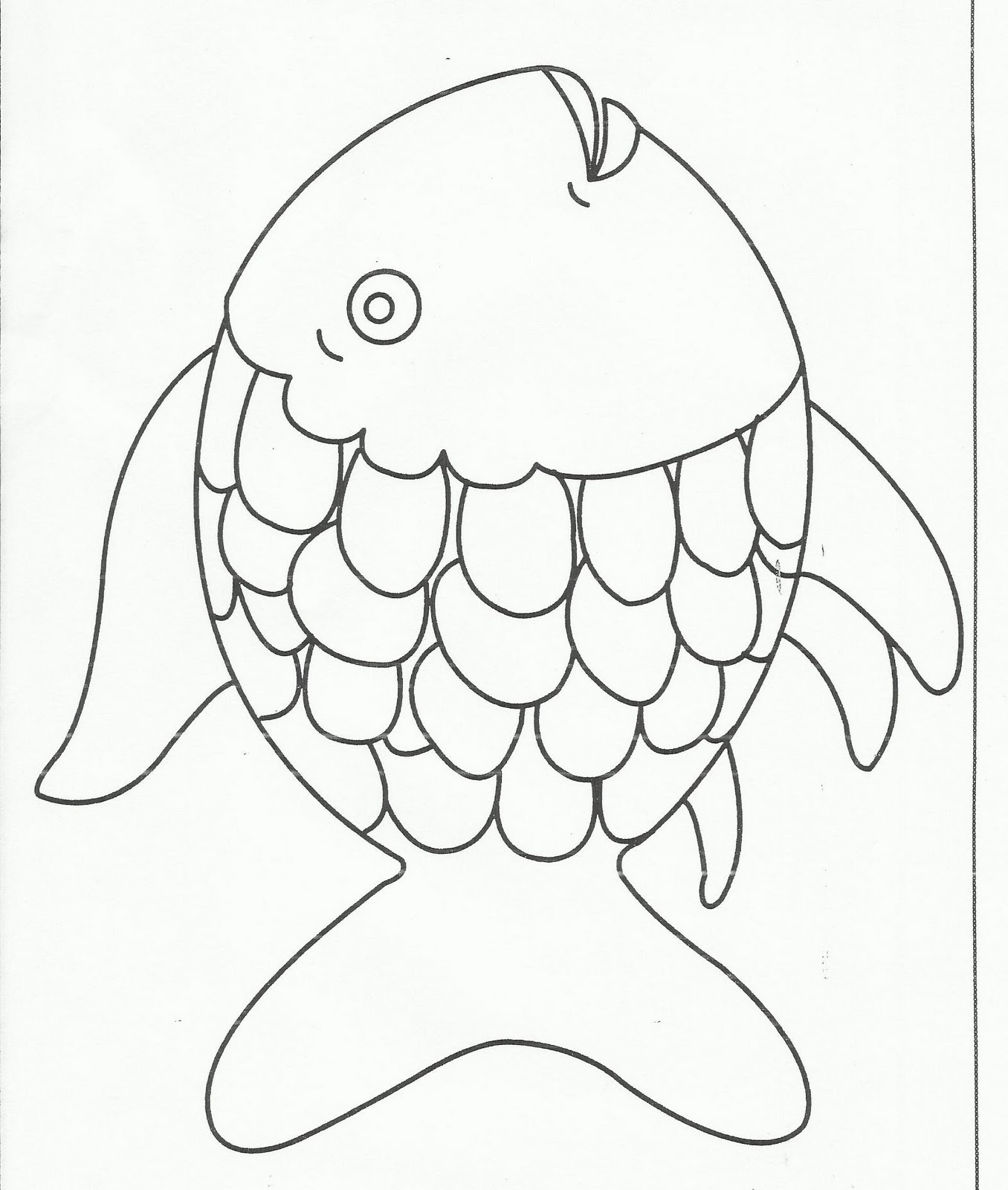 Rainbow Fish Outline Az Coloring Pages Outline Pictures For Coloring