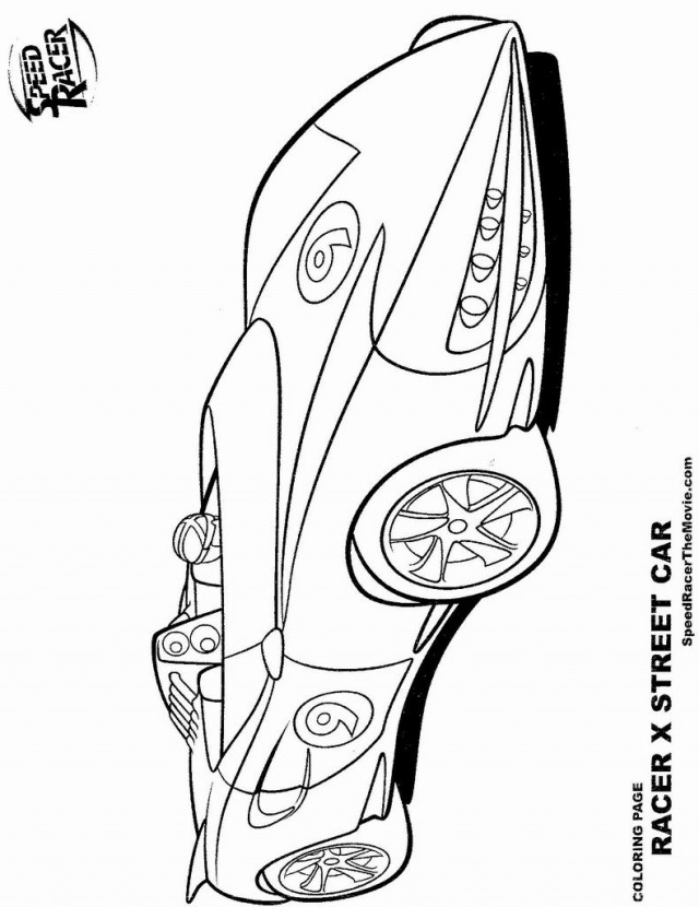 coloring pages speed racer - photo#25