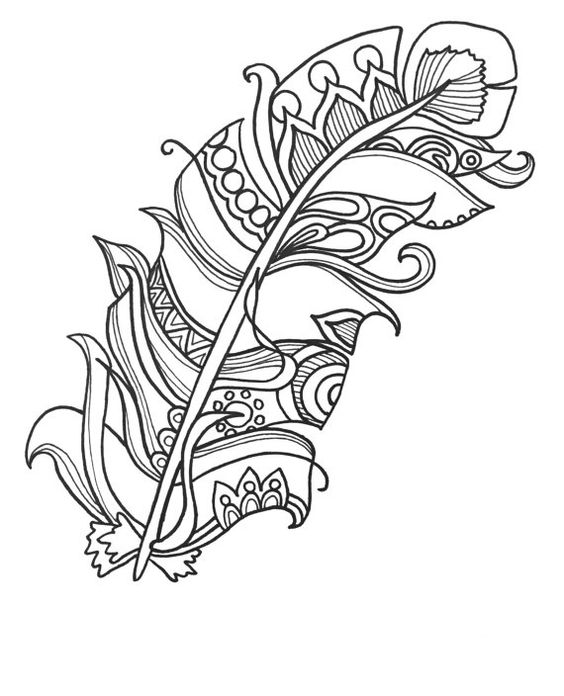 Best Free Coloring Book : Feathers coloring page az pages