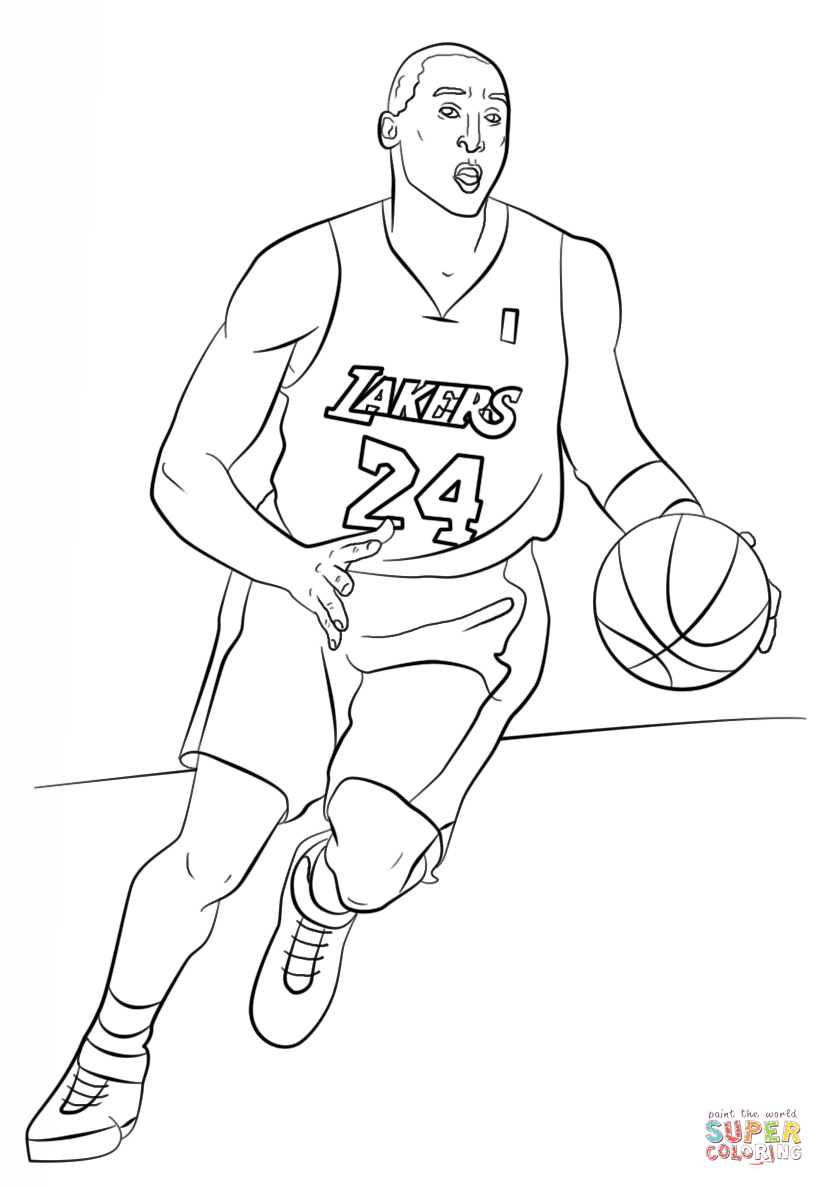 Kobe Bryant - LA Lakers Coloring Pages