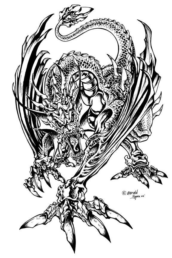 coloring pages coloring pages for adults adult - Dragon Coloring Books