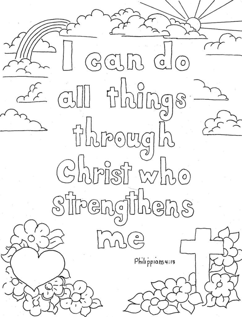 Quotes colouring pages - Adult Coloring Page Religious Quotes Coloring Pages Adult