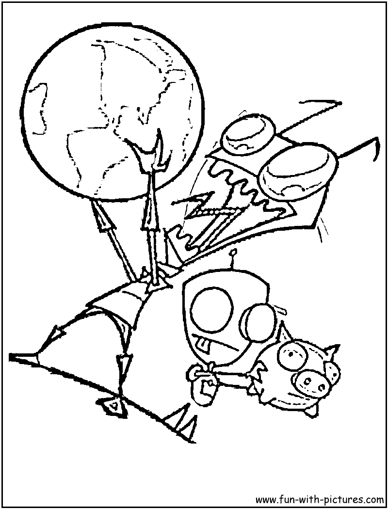 gir invader zim coloring pages - photo#4