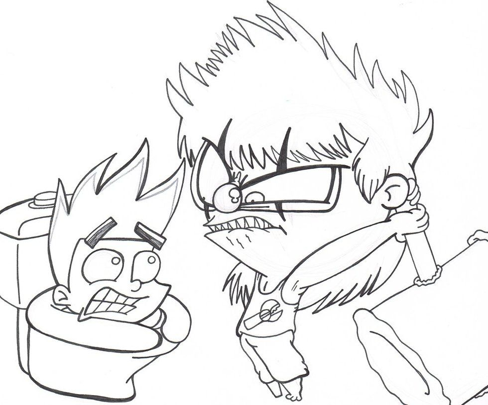 Coloring Pages Johnny Test Coloring