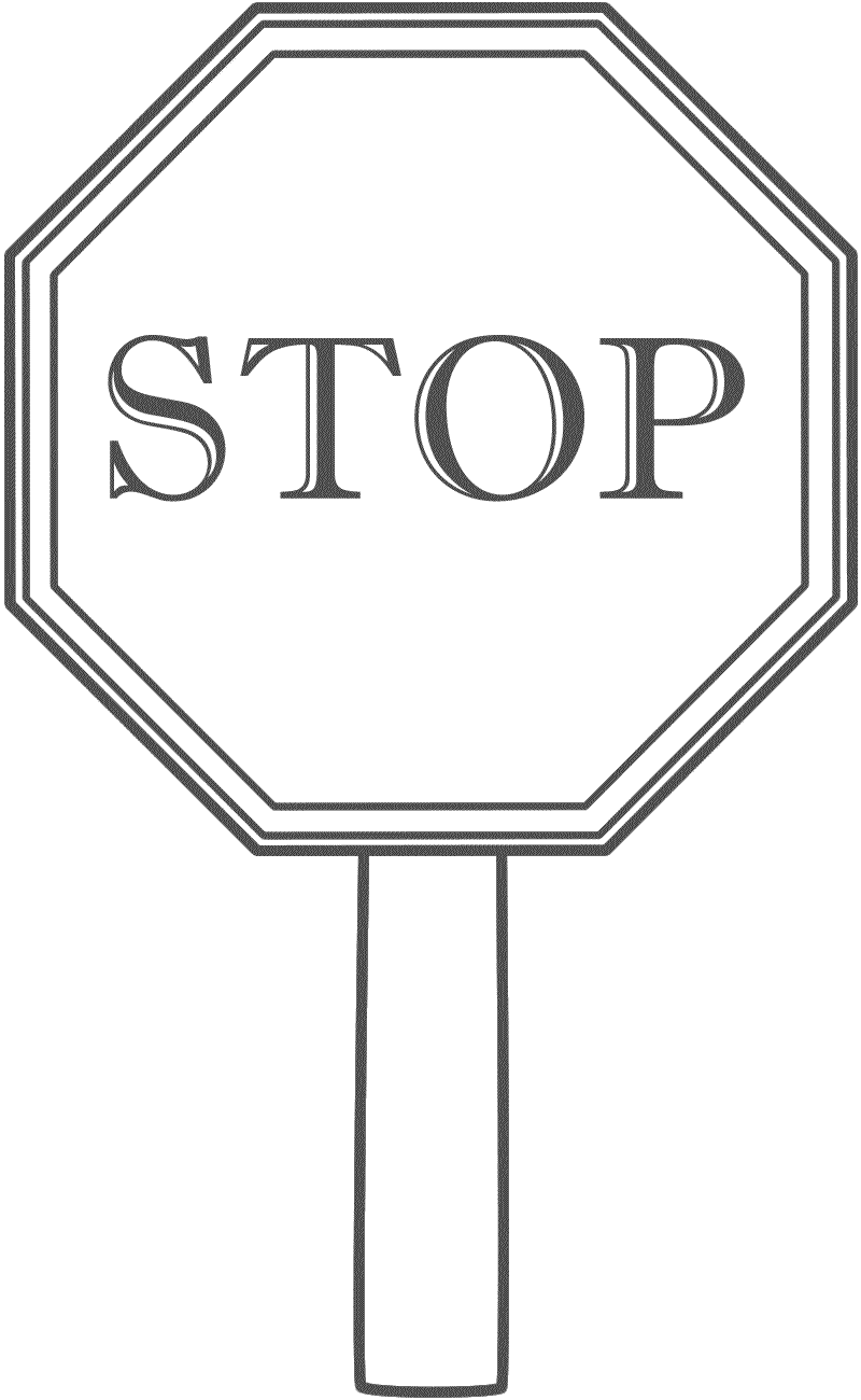 Printable Stop Sign Coloring Home
