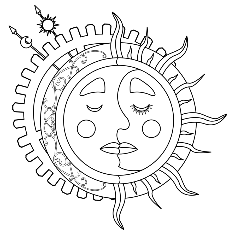 the moon coloring pages - photo#39