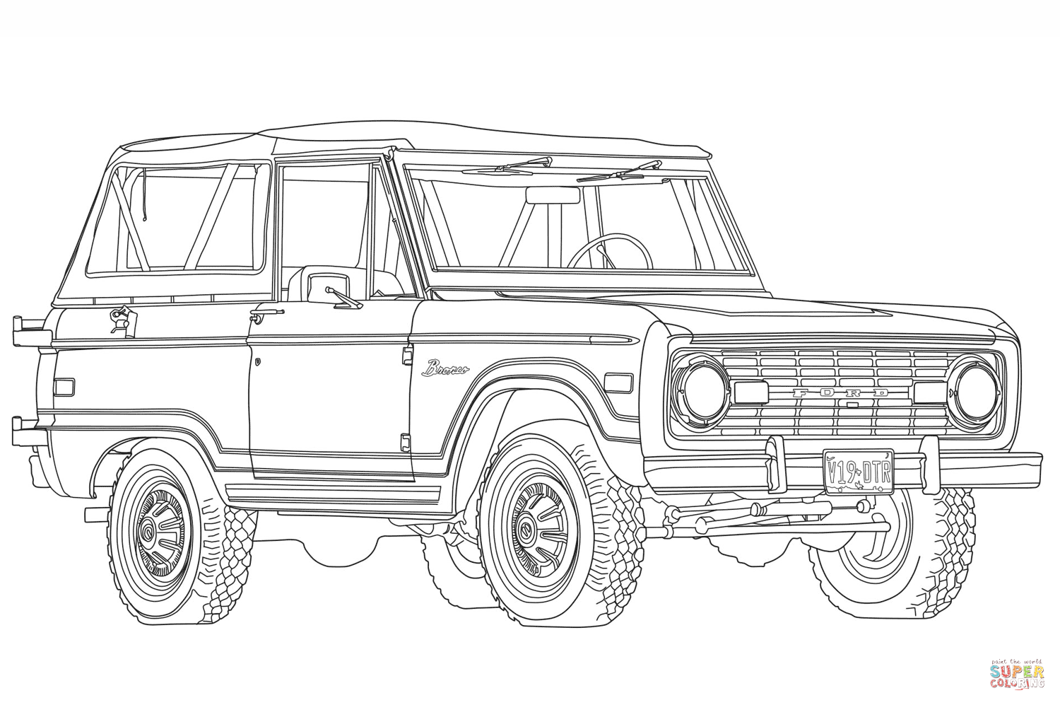 1966 ford bronco coloring page