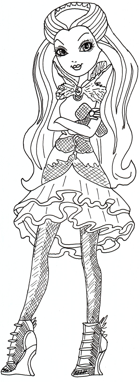 Printable coloring pages ever after high - Free Printable Ever After High Coloring Pages Raven Queen Ever